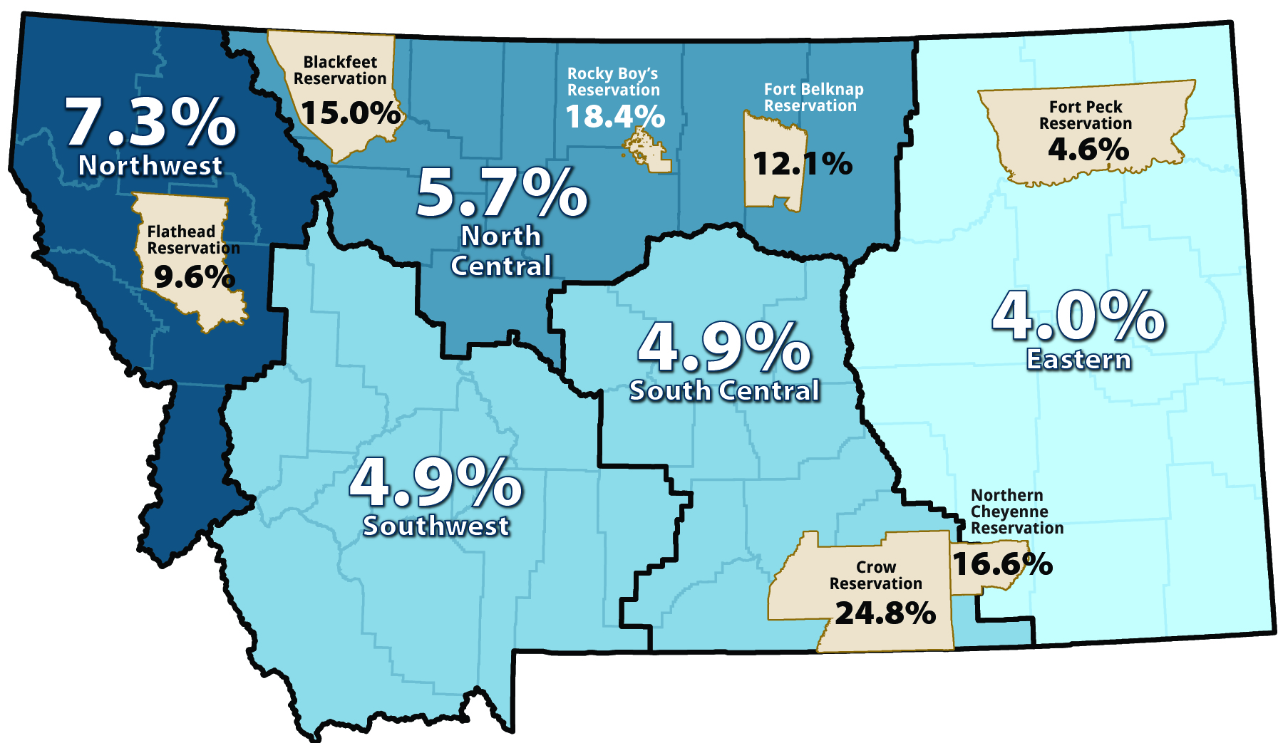 economy figure 1 2013 unemployment rates in five labor market areas and seven reservations