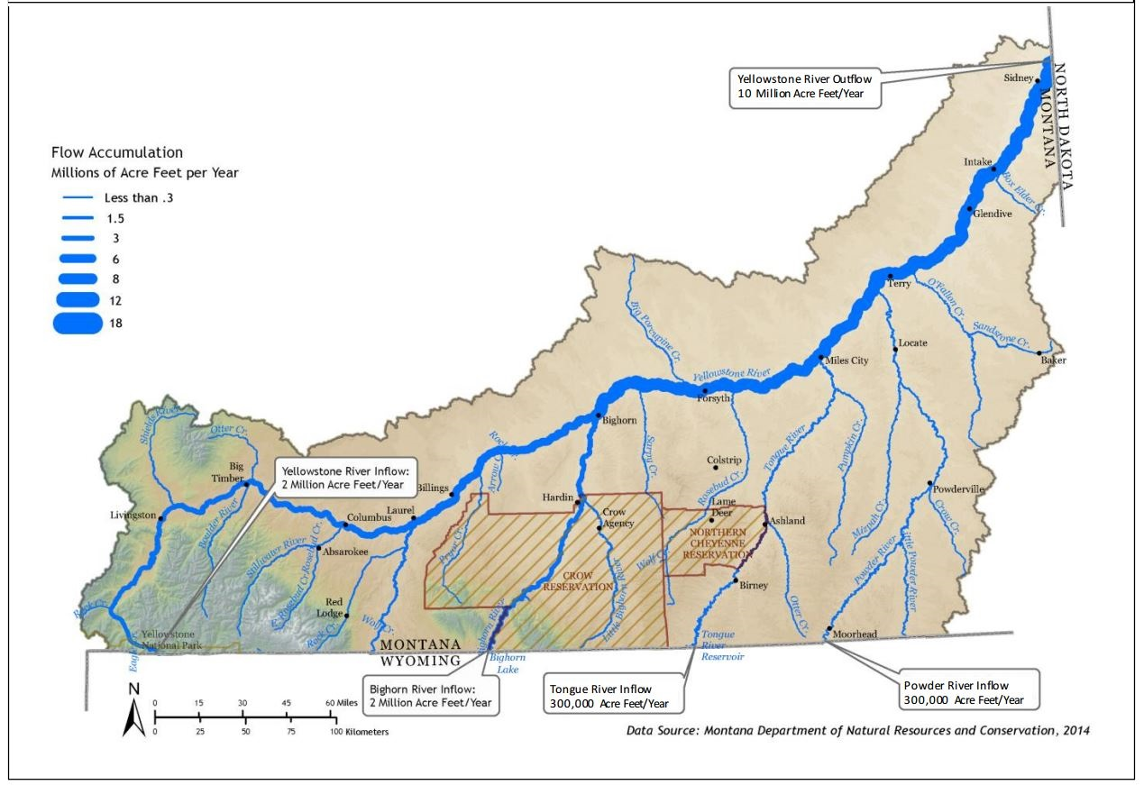 Yellowstone River Map Maps Selected from Technical Reports